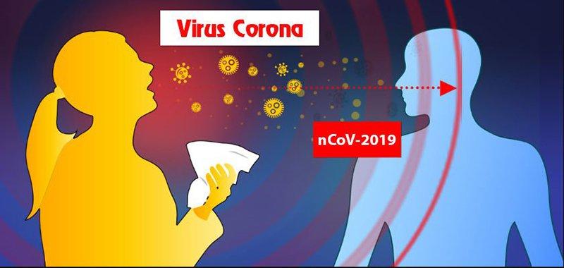 Con đường lây nhiễm chính của virut corona là từ người sang người